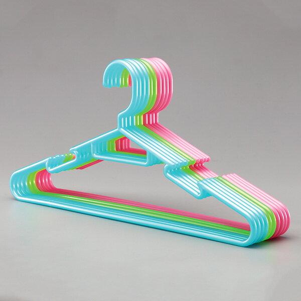 ハンガー 洗濯 物干し 洗濯用品 シャツ用ハンガー プラスチックハンガー カジュアルハンガー ハンガー薄型 シンプルハンガー10本セット カラフル