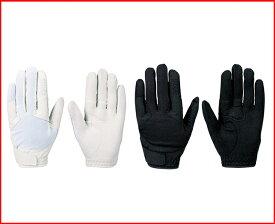 レターパック配送 ジームス 守備用手袋 クッション有 高校野球対応 ZER-910 (ホワイト×ブラック) ハイグリップ合成皮革、甲側急乾メッシュ