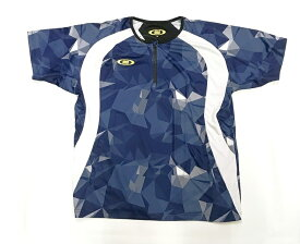 アクティブーム トレーニングウェアー ハーフジップシャツ 半袖 Vジャン オールシーズン使用可能 ネイビー