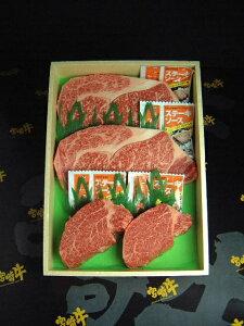 宮崎牛ロース・ヒレステーキ詰め合わせ 【送料無料】(牛肉、ギフト、お歳暮、お中元、父の日、誕生日プレゼント、グルメ、お祝い)