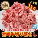 【送料無料】日本一宮崎牛切り落とし 1kg