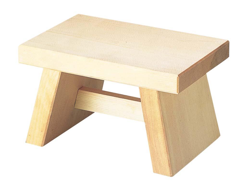 白木 風呂椅子 6−481−1 260×170×H155 2043-04 【ホール備品 ルーム関連商品 業務用 特価 格安 新品 楽天 販売 通販】[10P03Dec16]