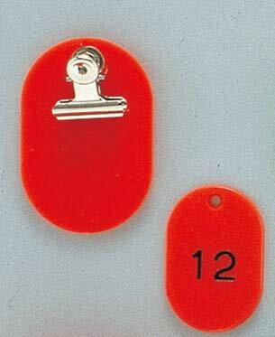 クロークチケット KF968 1〜50 赤 2052-01 【ホール備品 ルーム関連商品 業務用 特価 格安 新品 楽天 販売 通販】[10P03Dec16]