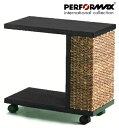 高品質ウォーターヒヤシンス家具 PERFORMAX正規品 ウォーターヒヤシンス サイドテーブル エンドテーブル キャスター付…
