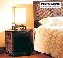 高品質ウォーターヒヤシンス家具 PERFORMAX正規品 ウォーターヒヤシンス ベッドサイドテーブル ナイトテーブル 引出し…