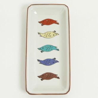 KUTANI SEAL(クタニシール) 長皿「カラーいのしし」 P25Apr15