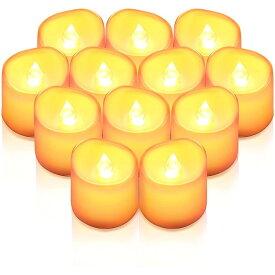 LED キャンドル 12個セット ライト ろうそく 蝋燭 癒しの灯り 揺らぐ炎 火を使わない おしゃれ クリスマス 結婚式 誕生日 室内 室外 飾り インテリア ろうそく型 LEDライト ランタン