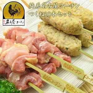 父の日 お父さん やきとり 生串 純系名古屋コーチン焼き鳥 正肉(モモ・ムネ)串・つくね10本セット 冷凍 楽ギフ_包装 のし 業務用 バーベキュー 酒の肴 おつまみ 鶏肉 地鶏 プレゼント 内祝
