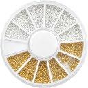 【メール便OK】ジェルネイルの埋め込みに♪選べるブリオン1mm&1.5mm★ゴールドシルバーセット(お試し少量パック)|ネイ…