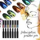 【全7色セット】オーロラパウダー 高発色 秋の うるうるパウダーペン マジックパウダーペン ミラーパウダー 選べる7色…