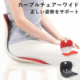 【正規販売店】カーブルチェアーワイド 正しい姿勢をサポート(SN)【0818】【送料無料】【SIB】