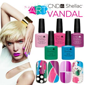 【メール便可】CND シェラック UVカラーコート ART VANDAL Collection カラージェル Shellac【在庫有】