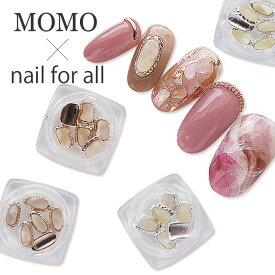 MOMO×nail for all 容器入り ネイルパーツ 天然石風フレーム 6個入り(メール便可)