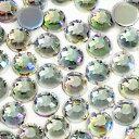 【メール便可】お徳用 アクリルストーン ラウンド オーロラ 3mm 約500粒