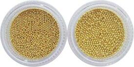 【10枚までメール便可】容器入り ブリオン ゴールド 1mm&0.8mm 各1個