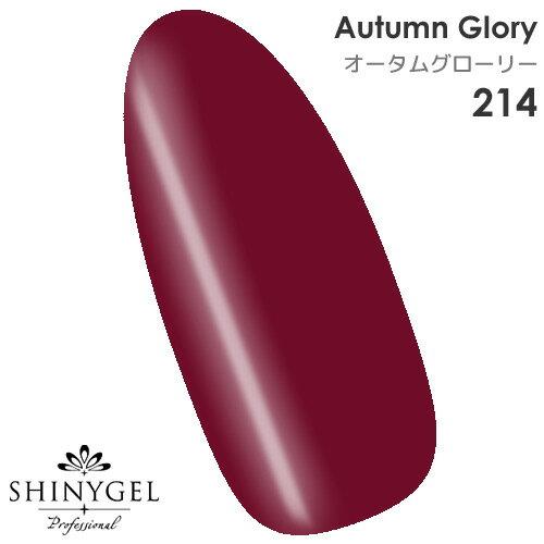 SHINYGEL Professional:カラージェル 214/オータムグローリー ボルドー 葡萄色 4g (シャイニージェルプロフェッショナル)[UV/LED対応○](JNA検定対応)