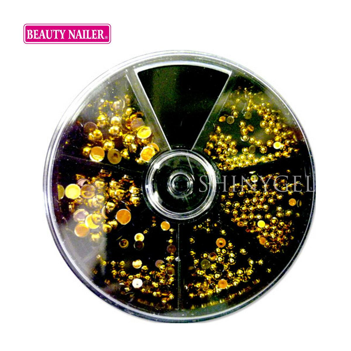 (DM便○)BEAUTY NAILER(ビューティーネイラー):ネイルストーンバラエティパック/ゴールドラウンドストーン(SVP-9)