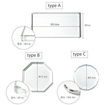 ネイルツールガラスパレットクリア全3タイプ
