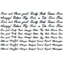 ネイルシール 文字 メッセージ アルファベット イニシャル アメイリー ネイルシール No.2−3 筆記体メッセージ 黒
