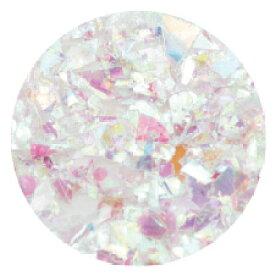ネイルパーツ ラメ ホログラム グリッター エムプティ クラッシュホロ クリア・オーロラ・ホワイトMIX B092