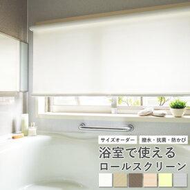 ロールスクリーン ニチベイ ソフィー フラック 浴室 バスタイプ 無地 防炎 抗菌 抗カビ 撥水 オーダー サイズオーダー フルオーダー オーダーメイド 日本製 取付け 簡単 間仕切り 目隠し 幅20〜200 高さ10〜240