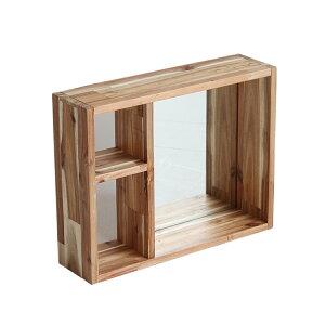 収納ボックス ミラー アクセサリー収納 玄関収納 鍵置き アカシア 木製 ミラー ボックスミラー 収納 鏡 収納ボックス Citta Box Mirror cim-2959