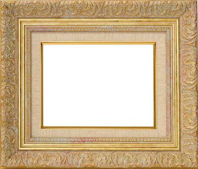 油絵用額縁8209/ホワイトゴールドS6(410×410mm)☆前面ガラス仕様☆