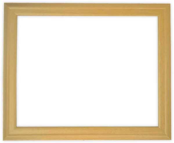 デッサン額縁 歩-2/木地 半切サイズ(545×424mm)☆前面ガラス仕様☆