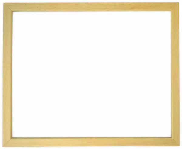 デッサン額縁 歩-7/木地 小全紙サイズ(660×509mm)☆前面ガラス仕様☆