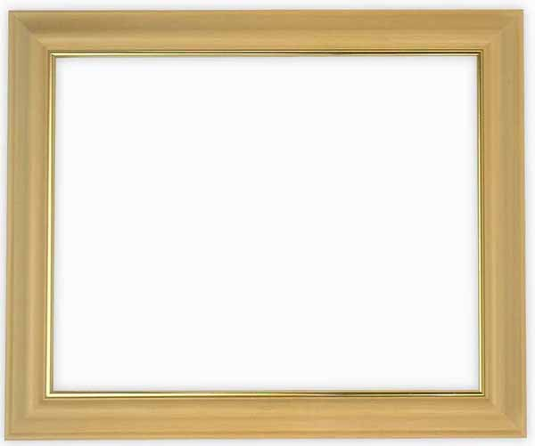 デッサン額縁 魁No.3/木地 四つ切サイズ(424×348mm)☆前面ガラス仕様☆