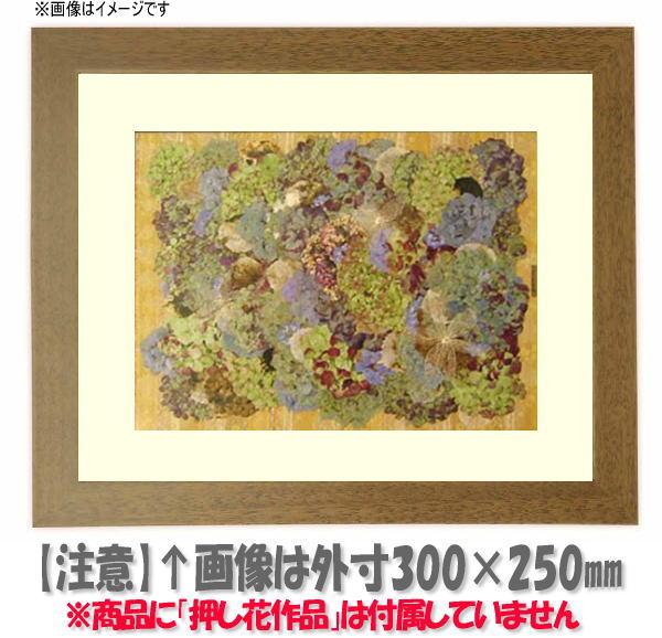 押し花額縁 歩-8/グレー 大衣サイズ(ガラス506×391mm)【os-B】