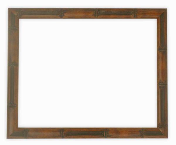 デッサン額縁 竹フレーム/茶 小全紙サイズ(660×509mm)☆前面ガラス仕様☆