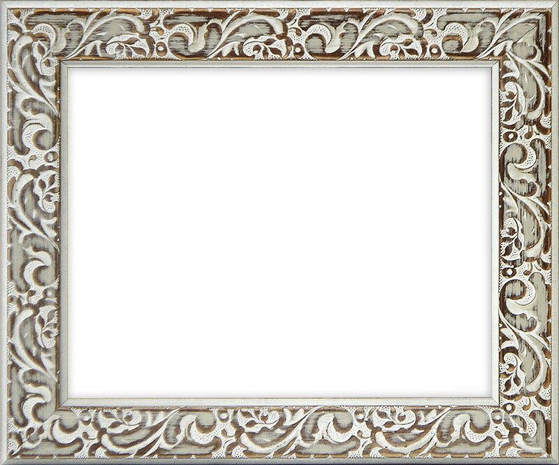 デッサン額縁 マダガスカル/ホワイト インチサイズ(254×203mm)☆前面ガラス仕様☆