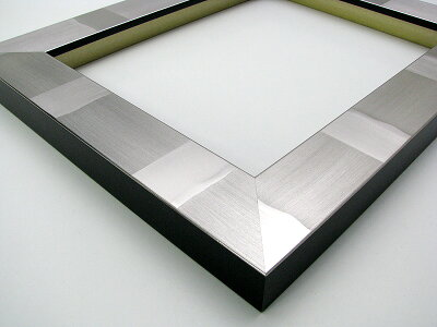 写真用額縁エスポワール/シルバー写真六つ切(254×203mm)☆前面ガラス仕様☆マット付