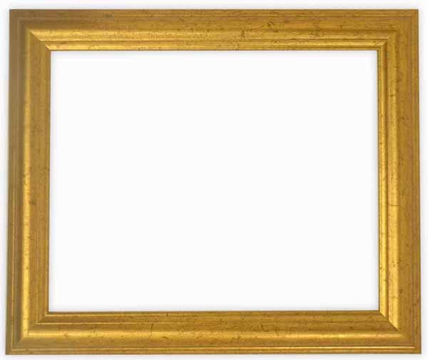 デッサン額縁 9580/ゴールド 小全紙サイズ(660×509mm)☆前面ガラス仕様☆