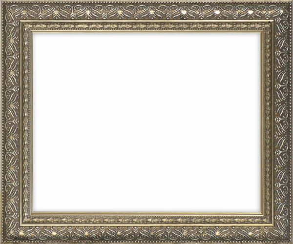 デッサン額縁 420型/シルバー 小全紙サイズ(660×509mm)☆前面ガラス仕様☆ 【模様・色に仕様変更有り】