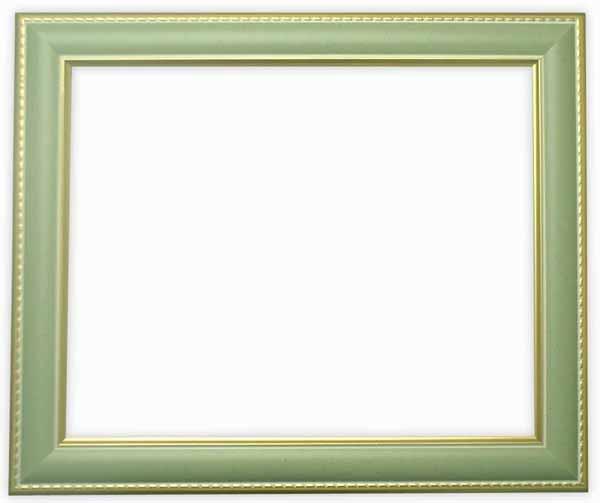 デッサン額縁 9614/グリーン インチサイズ(254×203mm)☆前面ガラス仕様☆【9614/グリーン/インチ/ガ】