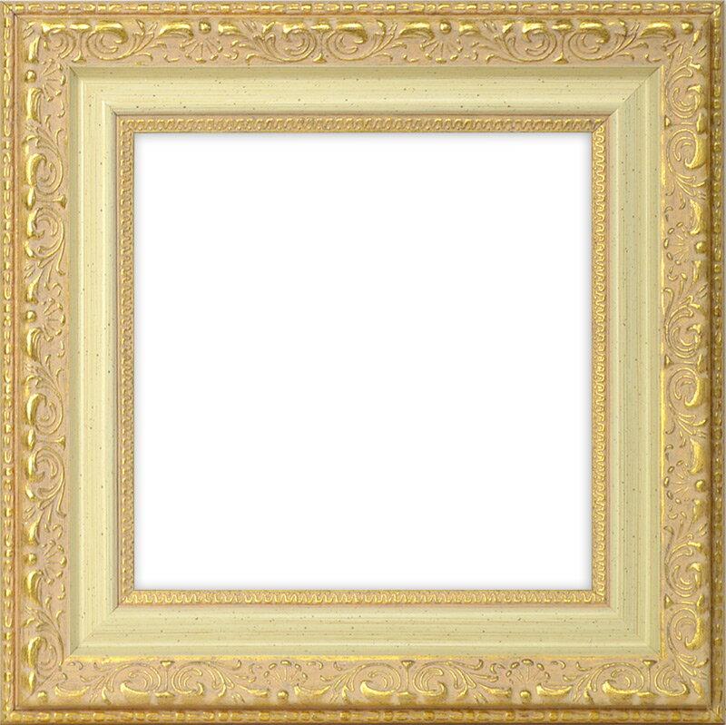 正方形額縁 8200/ホワイトゴールド 250角(250×250mm) ☆前面アクリル仕様☆