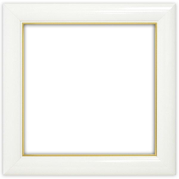 正方形額縁 J501/白 200角(200×200mm) ☆前面ガラス仕様☆