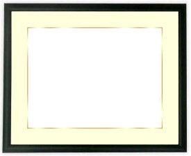 【キズあり品】写真用額縁 J型/黒 A4(297×210mm)専用 ☆前面アクリル仕様☆マット付き(金色細縁付き)【絵画/壁掛け/インテリア/玄関/アートフレーム】