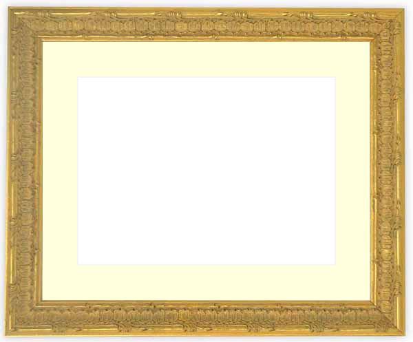 水彩額 9386/ゴールド 水彩F8(455×380mm)専用 ☆前面ガラス仕様☆マット付き