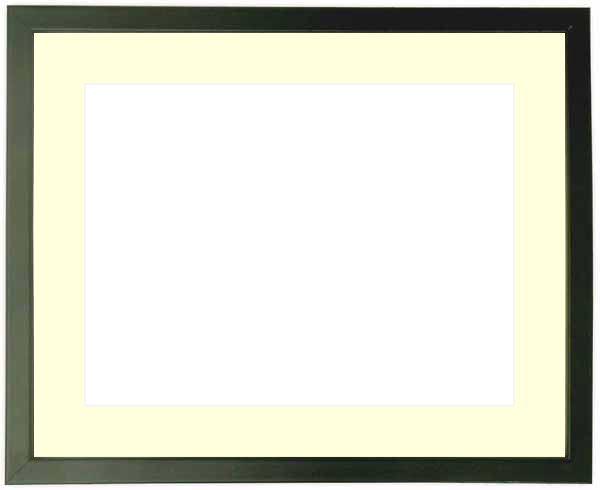 写真用額縁 歩-7/黒 A3(420×297mm)専用 ☆前面ガラス仕様☆マット付き【写真額縁】