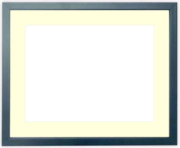写真用額縁 歩-7/ブルー A4(297×210mm)専用 ☆前面ガラス仕様☆マット付き【写真額縁】