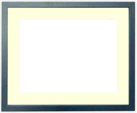 写真用額縁 歩-7/ブルー A3(420×297mm)専用 ☆前面ガラス仕様☆マット付き【写真額縁】【絵画/壁掛け/インテリア/玄関/アートフレーム】