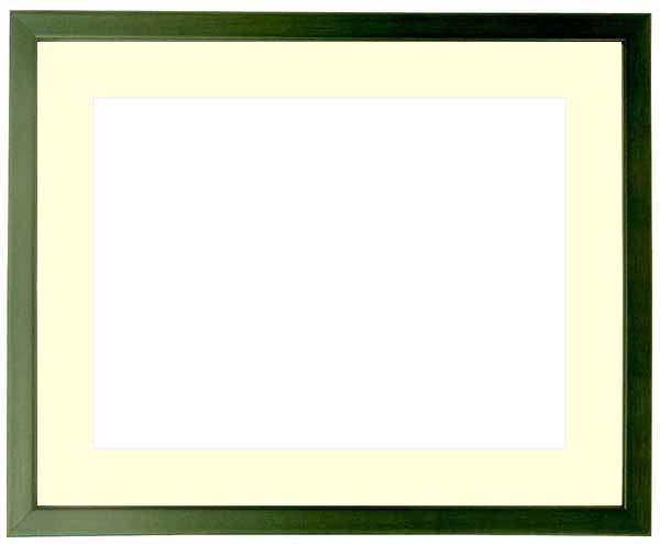 写真用額縁 歩-7/グリーン B4(364×257mm)専用 ☆前面ガラス仕様☆マット付き【写真額縁】