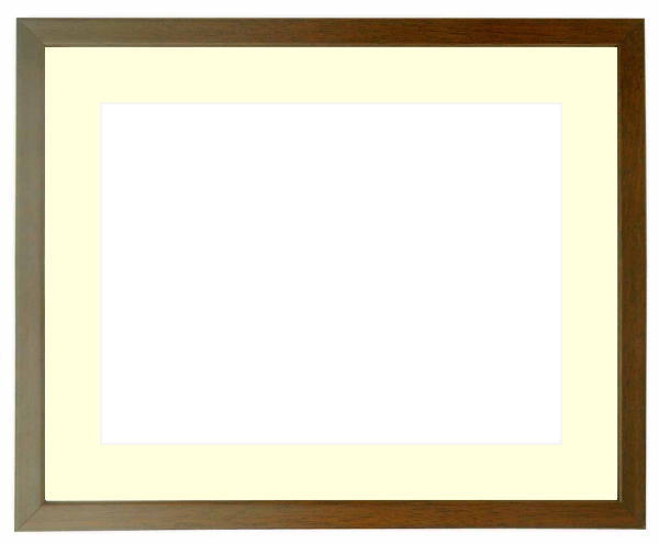 写真用額縁 歩-7/ブラウン A4(297×210mm)専用 ☆前面ガラス仕様☆マット付き【写真額縁】