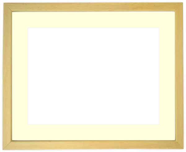写真用額縁 歩-7/木地 A4(297×210mm)専用 ☆前面ガラス仕様☆マット付き【写真額縁】