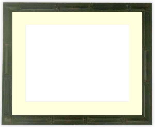 写真用額縁 竹フレーム/黒 パノラマ(254×89mm)専用 ☆前面ガラス仕様☆マット付き【写真額縁】