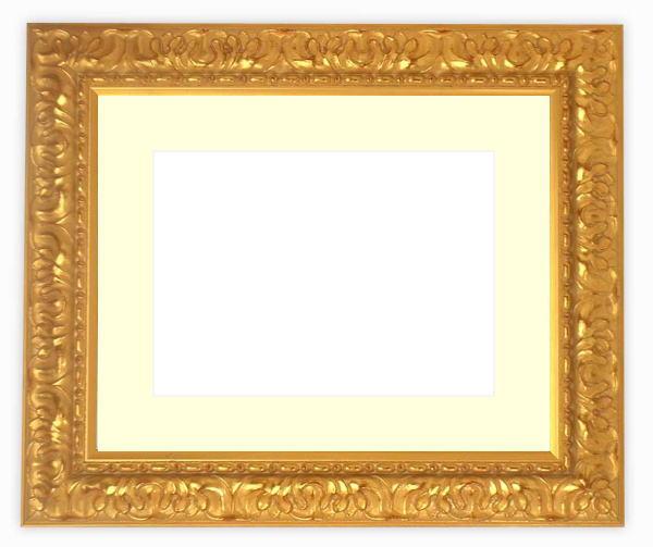 【送料無料】水彩額 246/ゴールド 水彩F8(455×380mm)専用 ☆前面ガラス仕様☆マット付き