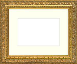 押し花額縁 420型/ゴールド 大衣サイズ(ガラス506×391mm)【os-B】 【模様・色に仕様変更有り】【絵画/壁掛け/インテリア/玄関/アートフレーム】